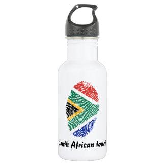 South African touch fingerprint flag 532 Ml Water Bottle