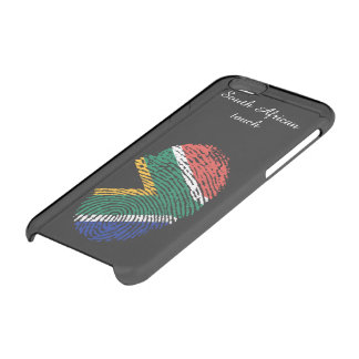 South african touch fingerprint flag clear iPhone 6/6S case