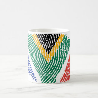 South African touch fingerprint flag Coffee Mug