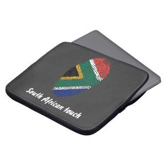 South African touch fingerprint flag Computer Sleeve