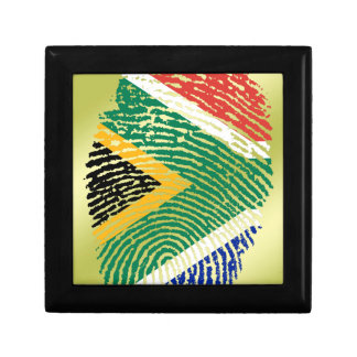 South African touch fingerprint flag Gift Box