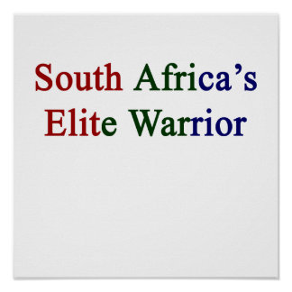 South Africa's Elite Warrior Poster