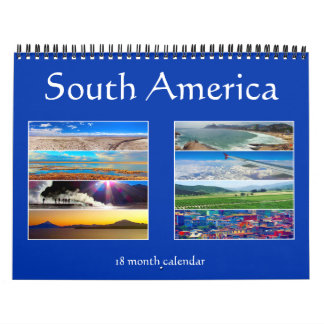 south america 18 months calendars