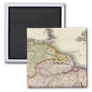 South America and West Indies 2 Square Magnet