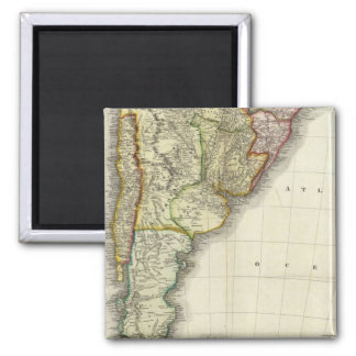 South America and West Indies Square Magnet