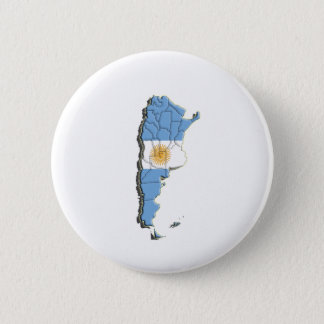 South America: Argentina 2 Inch Round Button