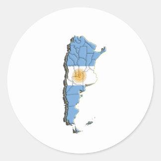 South America: Argentina Round Sticker