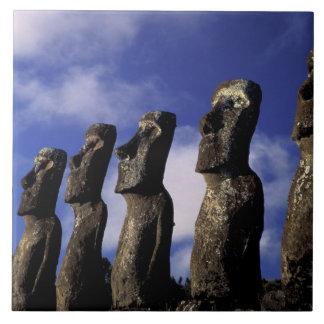 South America, Chile, Easter Island, Ahu Akiri. Tile