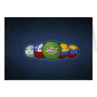 South America Countryballs Card
