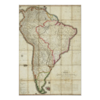 South America map 3 Poster
