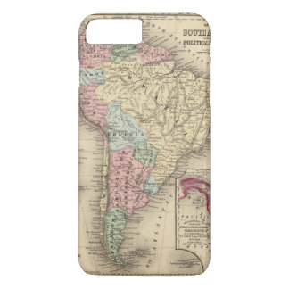 South America Map by Mitchell iPhone 7 Plus Case