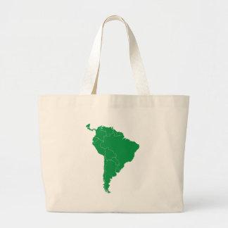 South America Map Large Tote Bag