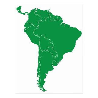 South America Map Postcard