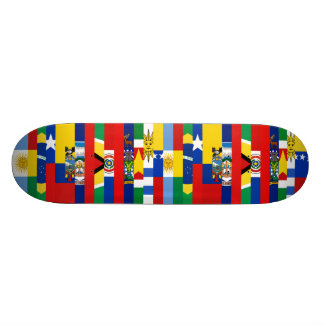 South American Flags Skateboard