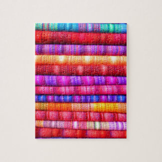 South American Stripe Fabrics Jigsaw Puzzle