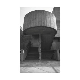 South Bank Brutalist Stairwell Canvas Print