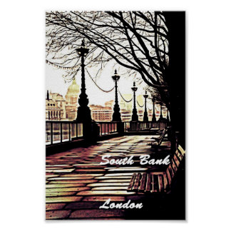 South Bank London Poster