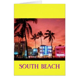 SOUTH Beach, Florida Card
