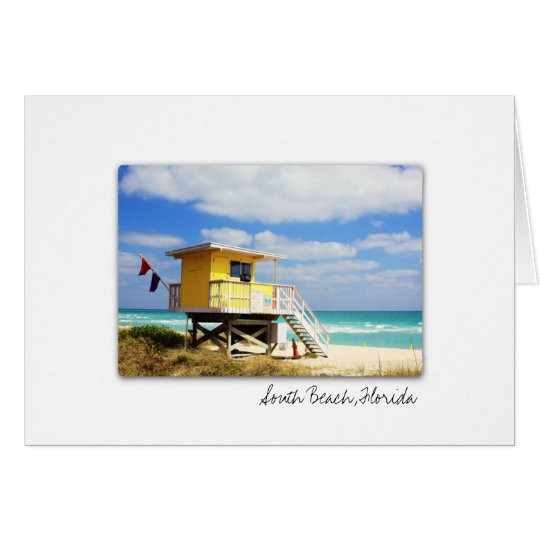 South Beach Florida Greeting Card