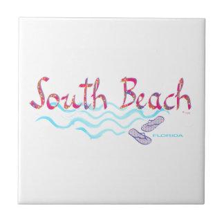 South Beach Miami Flip Flops Tile