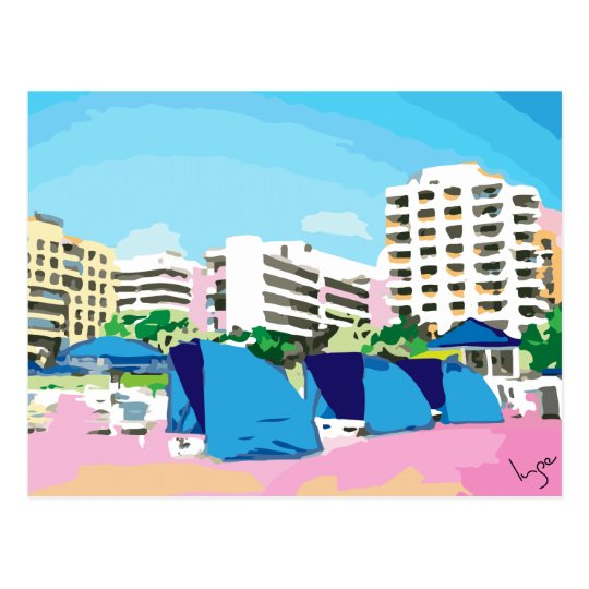 SOUTH BEACH, MIAMI, FLORIDA POSTCARD