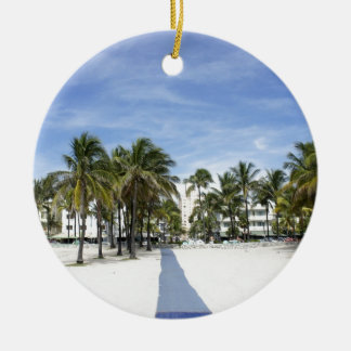 South Beach Round Ceramic Ornament