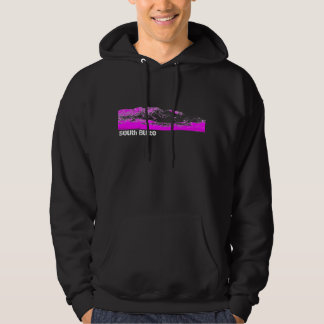 South Butte Black and Pink Mountain Hoodie