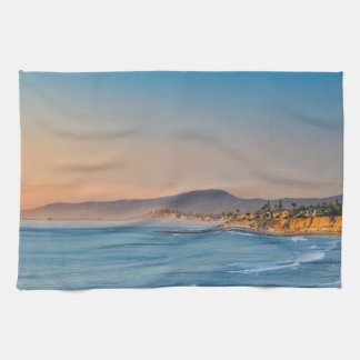 South Carlsbad beach Kitchen Towel