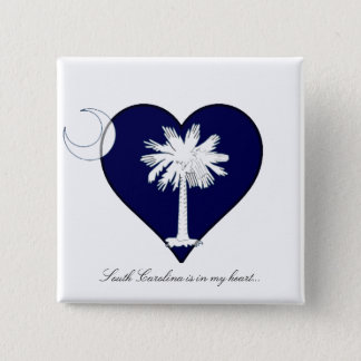 South Carolina 2 Inch Square Button