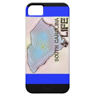 """South Carolina 4 Life"" State Map Pride Design iPhone 5 Case"