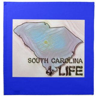 """South Carolina 4 Life"" State Map Pride Design Napkin"