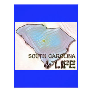 """South Carolina 4 Life"" State Map Pride Design Personalized Letterhead"