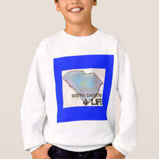 """South Carolina 4 Life"" State Map Pride Design Sweatshirt"