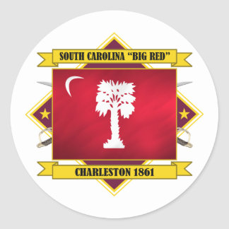 "South Carolina ""Big Red"" Classic Round Sticker"
