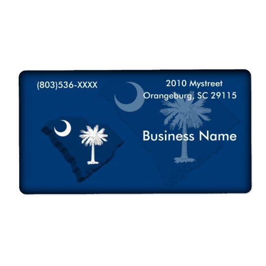 South Carolina Business Label Shipping Label