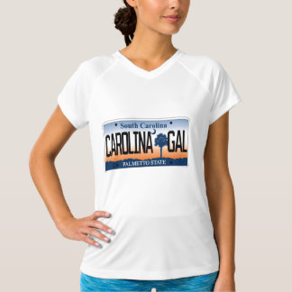 South Carolina, Carolina Gal license plate Tee Shirt
