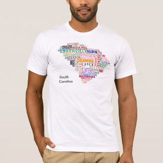 South Carolina City Map T-Shirt