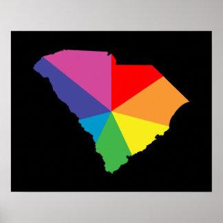 south carolina color burst poster
