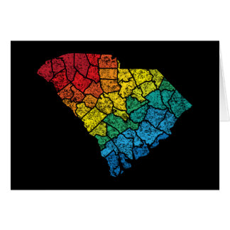 south carolina color counties note card