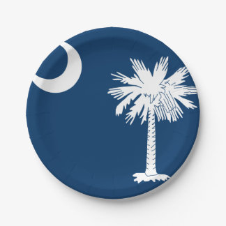 South Carolina Custom Paper Plates 7'' 7 Inch Paper Plate