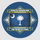 South Carolina Diamond Classic Round Sticker