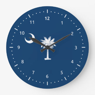 South Carolina flag, American state flag Large Clock