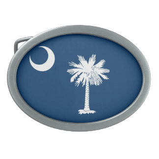 South Carolina Flag Belt Buckles