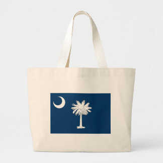 South Carolina Flag Large Tote Bag