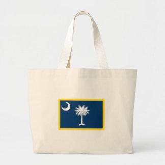 South Carolina Flag Large Tote Bag