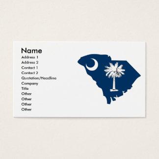 South Carolina Flag Map Business Card