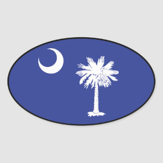 South Carolina Flag Oval Sticker