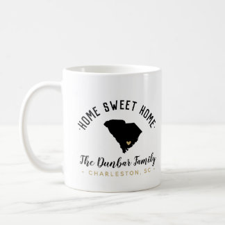 South Carolina Home Sweet Home Family Monogram Mug
