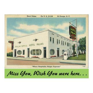 South Carolina, Hotel Palms, St. George Postcard