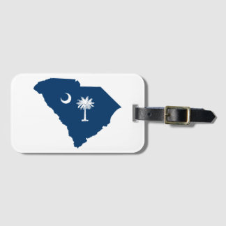 South Carolina in Blue and White Luggage Tag